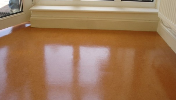 marmoleum renovation using Dr Schutz PU Sealer